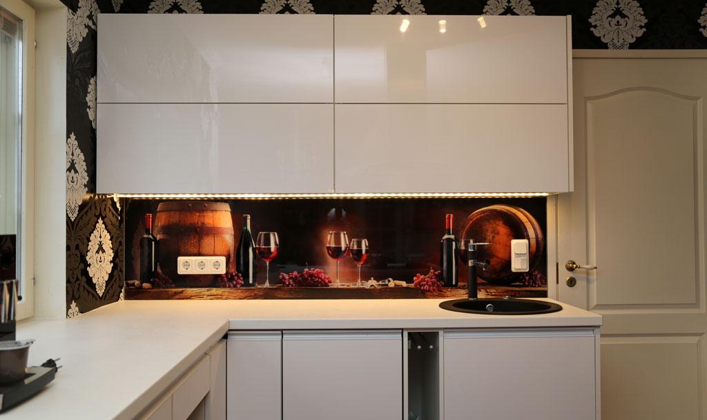 Printed Glass Pane For Kitchen Backsplash Wall Dekoorklaas