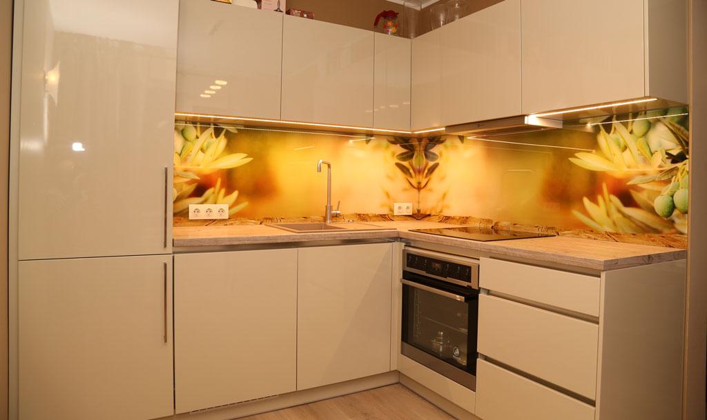 Printed glass pane for kitchen backsplash wall dekoorklaas - Wall design imaged fir kitchen ...
